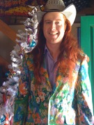 8 Ball floral suit Christmas morning