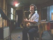 Playing Sax on a session!