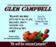 Sending love to you all---Jim White--GLEN CAMPBELL