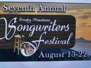 I will be performing at Smoky Mountain Songwriters Fest Aug 16th to 19th