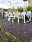 Millboard carbonised charred on Central London roof terrace
