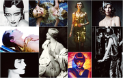 Inspiration board: roaring '20s hairstyles.
