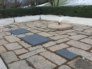 Final resting place of President John F. Kennedy, his wife and children.