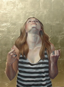 """""""The Psalm,"""" Oil on Canvas w Gold Leaf, 30x40"""" 2014"""