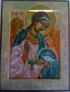 Guardian Angel - egg tempera
