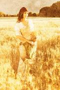Ruth Gleaning Near Field - Stone version