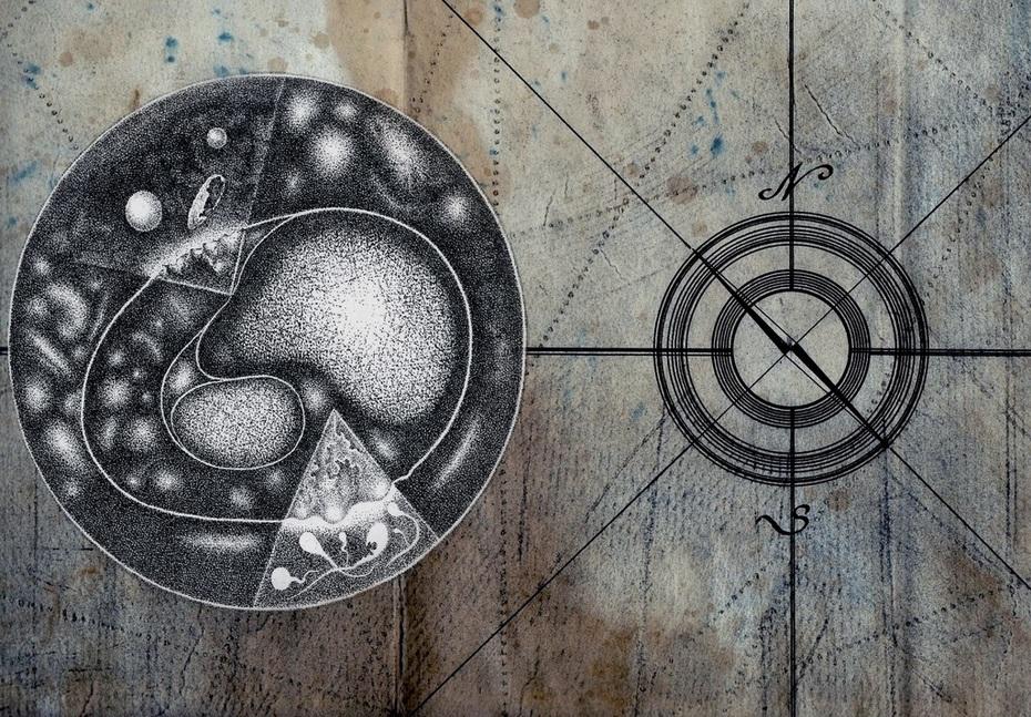 Kosmische Karte des Lebens
