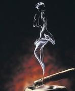 Ash Tray Smoke Woman