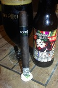 Barrel Aged beers generally over power cigars to me...but this combo is working