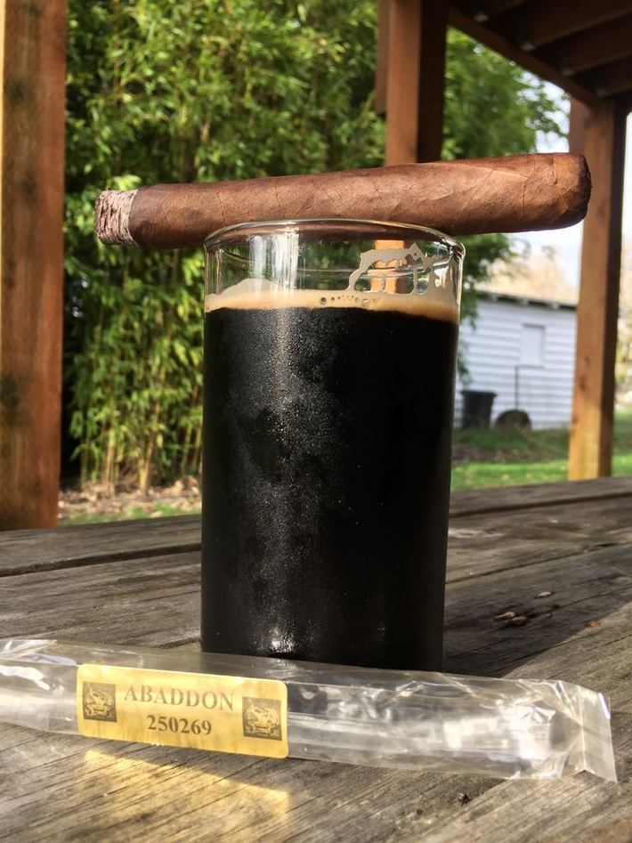 Abaddon with some home brew stout