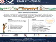 15° Seminario Iberoamericano de Construcción con Tierra, 15° SIACOT