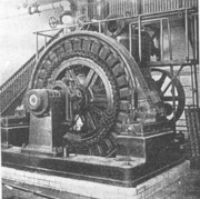 200 kilowatt, 3-phase direct-connecting Westinghouse alternating current generator