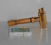 1958 Gillette Gold Refurbished Re-Plated FatBoy Razor D4–17 (1)