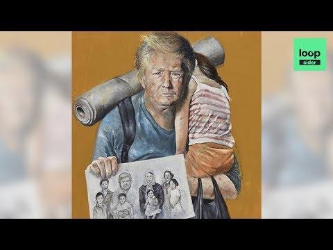 Ce peintre syrien transforme les chefs d'Etat en réfugiés