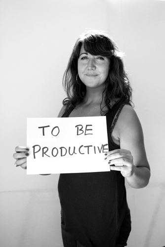 To Be Productive