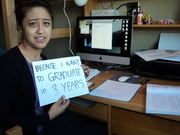crystal- I want to graduate in 3 years!