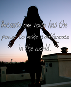 Daniela-Girbal-Because one voice has the power to make a difference in the world