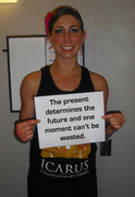 Brooke Scheidemantle-The present determines the future and one moment can't be wated