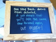 Kevin Lee - Because one step back doesn't mean defeated, it just means that you'll take the same step forward again, but wiser!