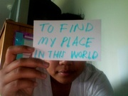 Daphne Rabot - To find my place in this world.