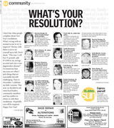 """St. Johns Sun """"What's Your Resolution?"""" 1/2/2010"""