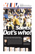Sun Sentinel Super Bowl pages