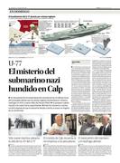 Submarino alemán hundido en Calpe