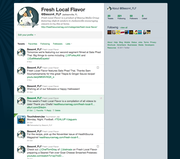 Fresh Local Flavor Twitter page