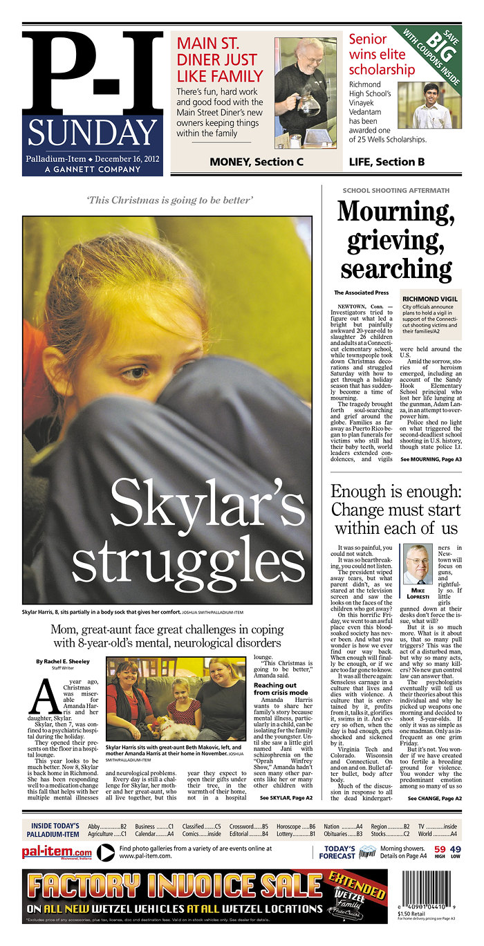 Richmond, IN Sunday front page