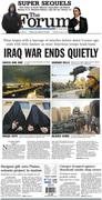 Iraq War ends quietly