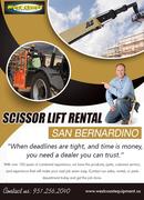 Scissor Lift Rental San Bernardino | 9512562040 | westcoastequipment.us