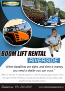 Boom Lift Rental Riverside | 9512562040 | westcoastequipment.us
