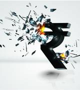 rupee crash