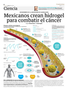 Mexicanos crean hidrogel para combatir el cáncer