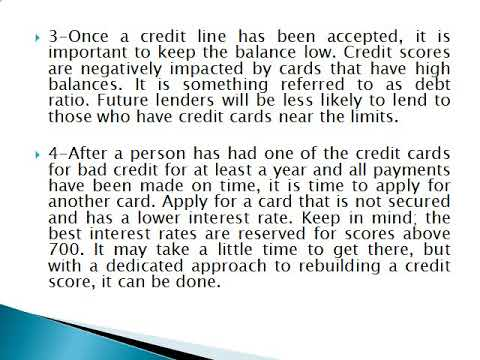 Credit Cards For Bad Credit 5 Things You Should Know