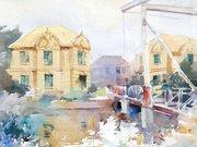 """นิทรรศการ """"เที่ยวไปกับสีน้ำ"""" (On location with watercolor)"""