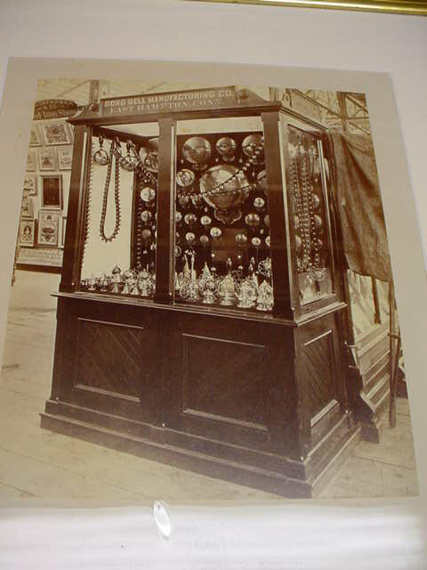 MVC-018S Gong Bell Display Case, photo in East Hampton Historical Society Collection