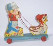 Gong Bell Dutch Boy with Duck