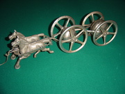Gong Bell Horses and Revolving Chimes with Four Wheel Cart Hi Res