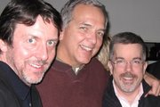 """THE"" Patrick O'Connor, Dave Courvoisier and Peter K. O'Connell at the 2009 New York City Voiceover Mixer"