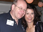 Bob Souer and Pam Tierney at the 2009 New York City Voice Over Mixer
