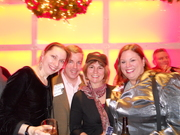 Liz deNesnera, Peter K. O'Connell, Linda Ristig and Amy Taylor at the 2010 NYC Voiceover Mixer