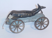 N N Hill  Jonah and the Whale Bell Toy No 119 1905 angled view
