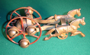 Kirby Two Horses and Sleigh Bells with Revolving Chime perhaps held a Cannon