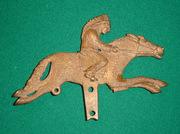 N N Hill Indian Rider Push Toy No 570 1919  brass pattern