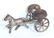 Unknown attributed to Watrous small horse and bell toy cart