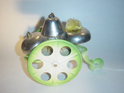 Unknown European Bell Pull Toy Green and White Paint