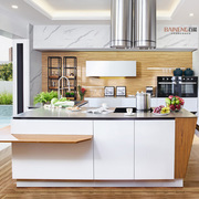 Baineng modern lacquer stainless steel kitchen cabinet design