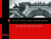 12th Annual M&A Advisor Awards