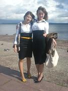 Света и Ира на берегу Онежского озера